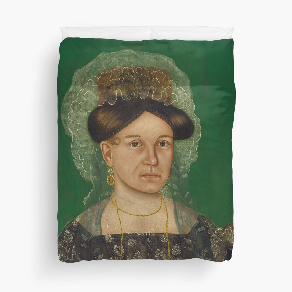 Eliza R. Read Oil Painting by Royall Brewster Smith Duvet Cover