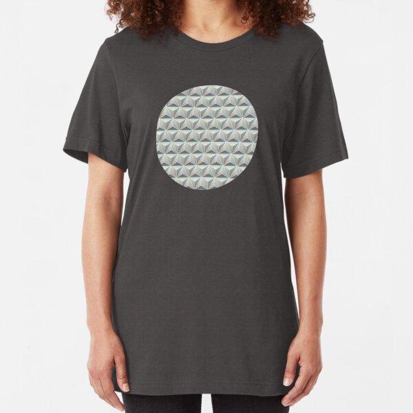 Spaceship Earth Tile Slim Fit T-Shirt