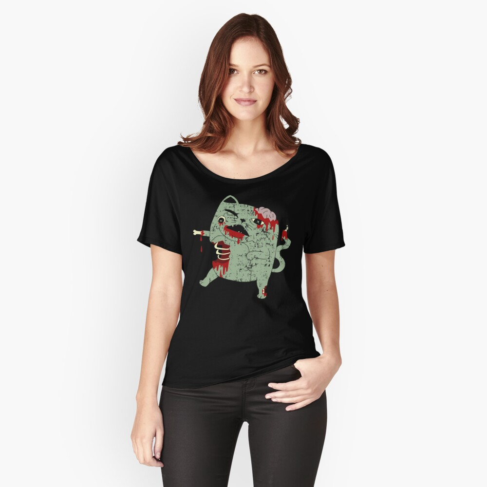 Zombie Cat Relaxed Fit T-Shirt