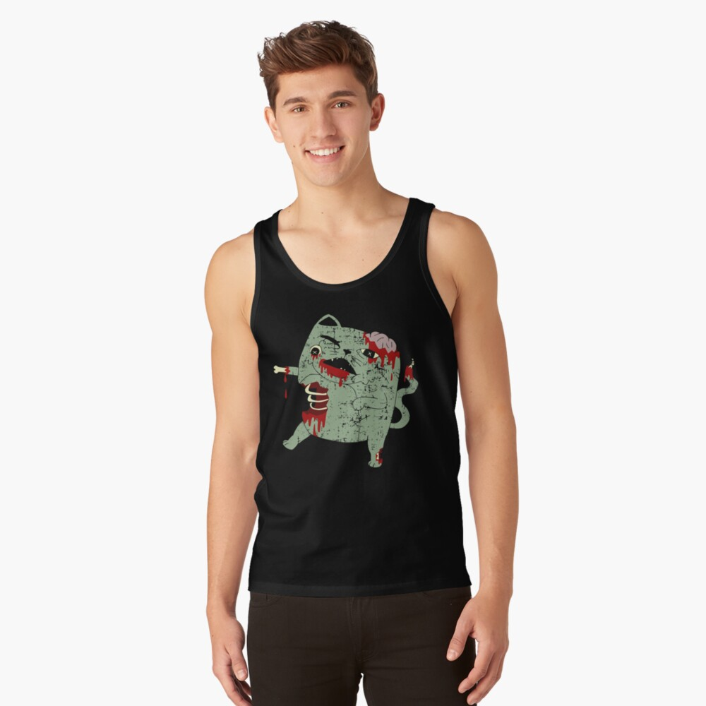 Zombie Cat Tank Top