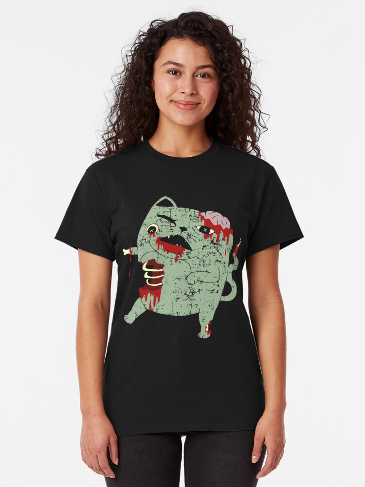 Alternate view of Zombie Cat Classic T-Shirt