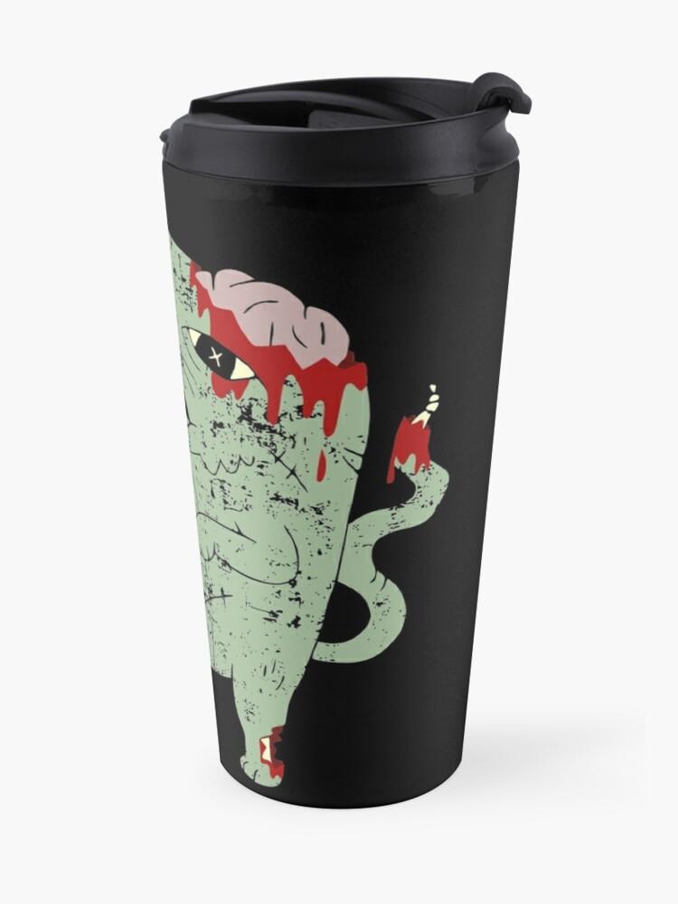 Alternate view of Zombie Cat Travel Mug