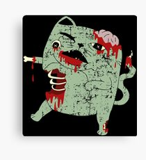 Zombie Cat Canvas Print