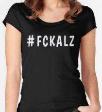 Hashtag FCKALZ  Women's Fitted Scoop T-Shirt