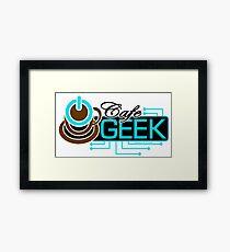 CAFE GEEK - Title Logo Framed Print