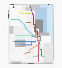 Chicago Transit Map Lake iPad Case/Skin