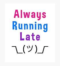 Always Running Late Shrug Emoji Smiley Photographic Print