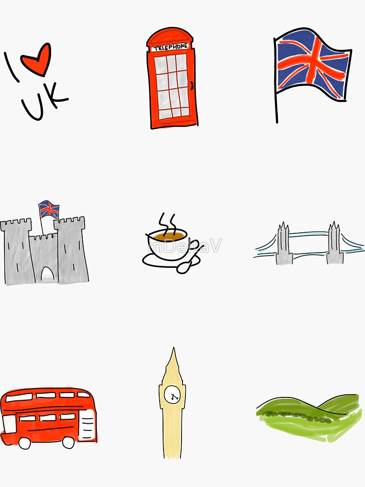I Heart United Kingdom, British Love, UK landmarks by mDeltaV