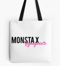 Monsta X Hyungwon Text Design Tote Bag