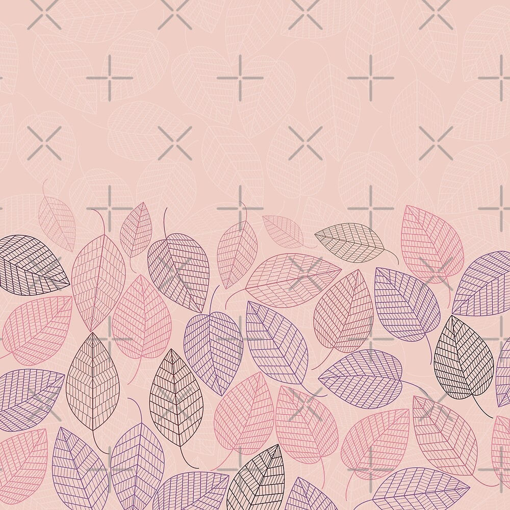 LEAVES ENSEMBLE PINK II by Pia Schneider
