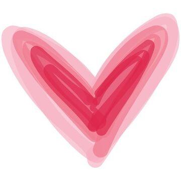 Pretty Pink Heart Print, Beautiful Spring Love Hearts by mDeltaV