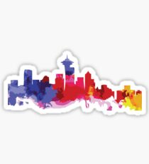 Seattle Colorful Skyline Sticker