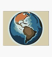 Planet earth color sketch (american continent) 1 Photographic Print