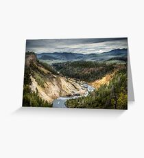 A River Running Through Yellowstone National Park Greeting Card