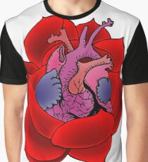 Blossoming Heart Graphic T-Shirt