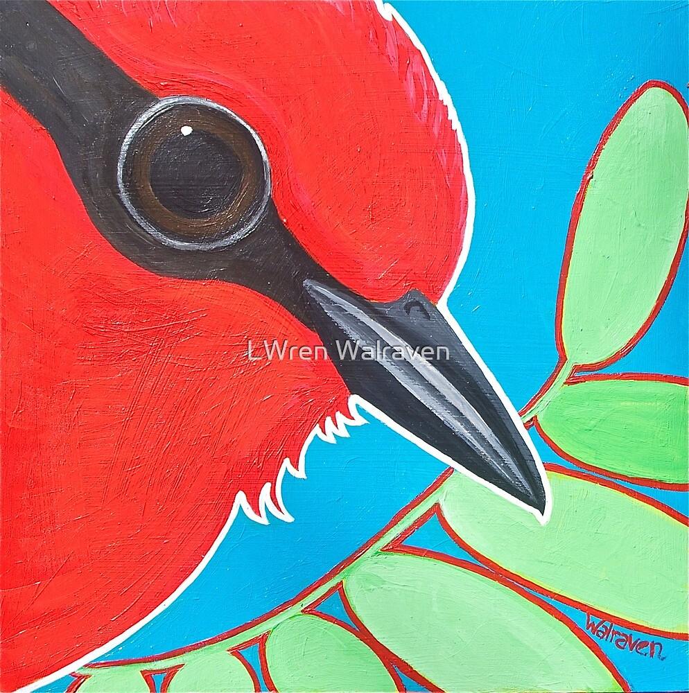 Crimson Beauty-Vermilion Flycatcher by LWren Walraven