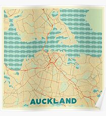 Auckland Map Retro Poster