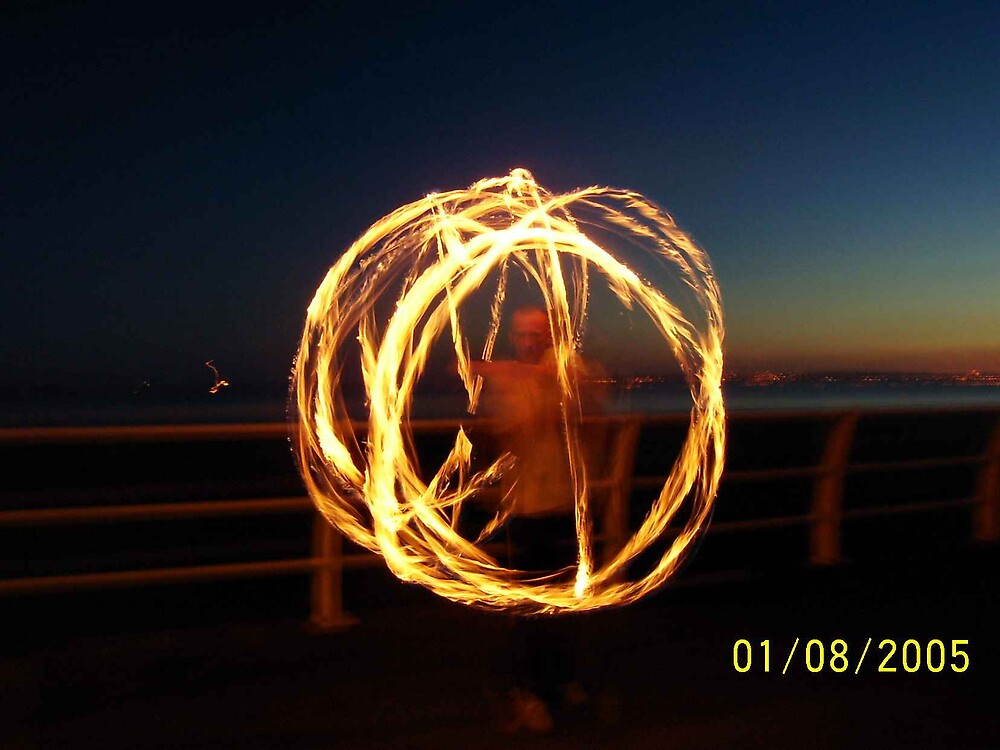 specrtum sphere, fire poi ,  by cool3water