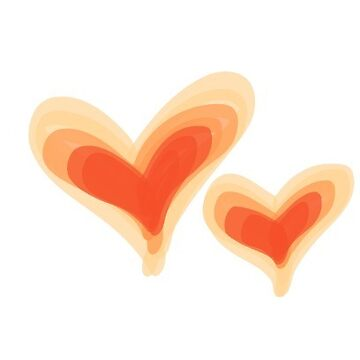 Pretty Orange Yellow Heart Print, Watercolor Painted Love Hearts by mDeltaV