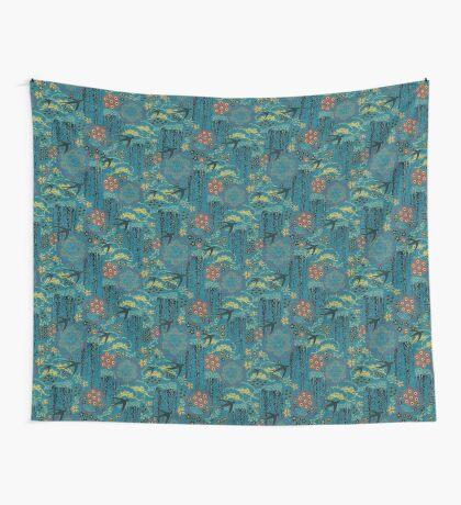 Japanese Garden Wall Tapestry
