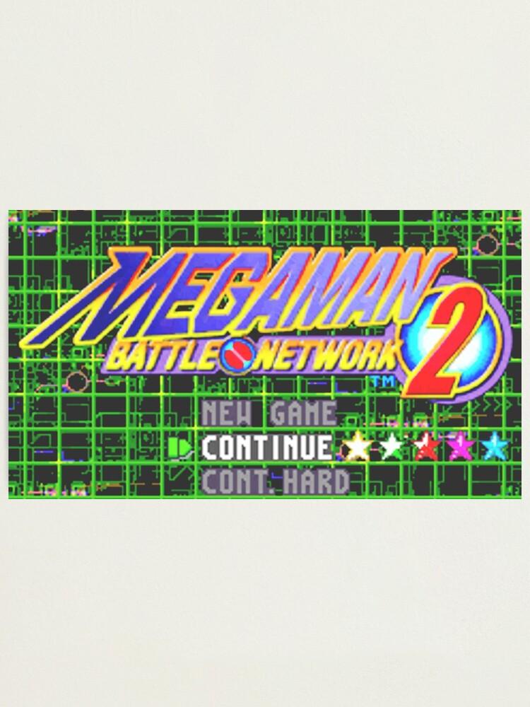 Mega Man Battle Network 2 Title Screen Photographic Print By Villainousploy Redbubble