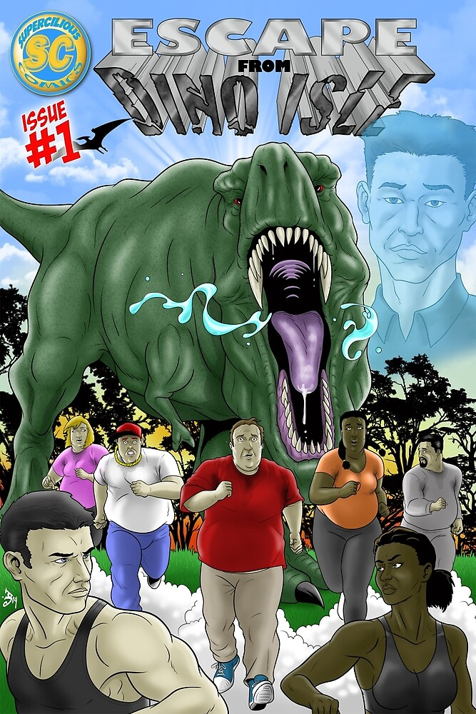 Escape from Dino Isle cover 2 by Supercilious