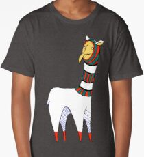Friendship Llama (center) Long T-Shirt