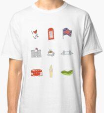 I Heart United Kingdom, British Love, UK landmarks Classic T-Shirt