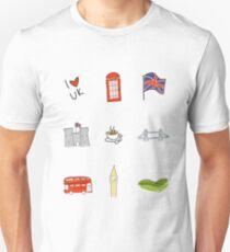 I Heart United Kingdom, British Love, UK landmarks Unisex T-Shirt