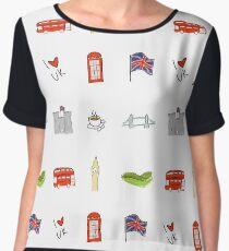 I Heart United Kingdom, British Love, UK landmarks Chiffon Top