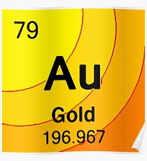 Chemical element gold posters redbubble gold element poster urtaz Gallery