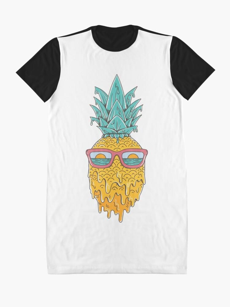 Alternate view of Pineapple Summer Graphic T-Shirt Dress