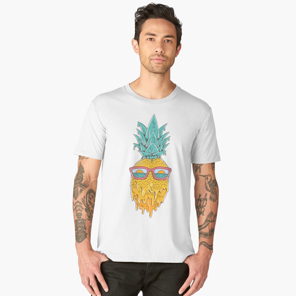Pineapple Summer Men's Premium T-Shirt Front