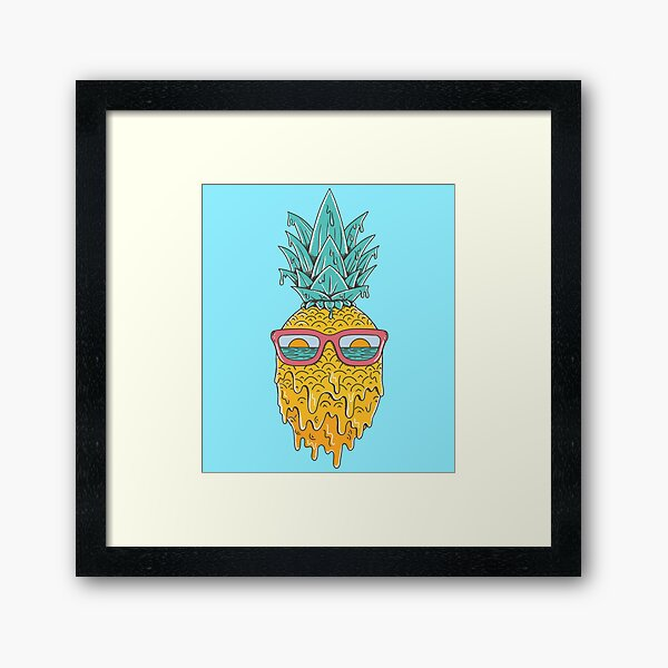 Pineapple Summer Framed Art Print