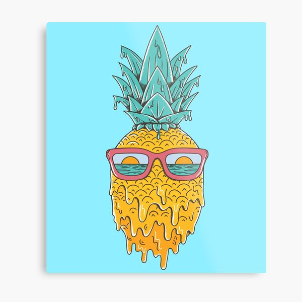 Pineapple Summer Metal Print
