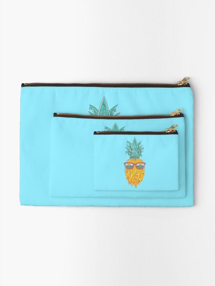 Alternate view of Pineapple Summer Zipper Pouch