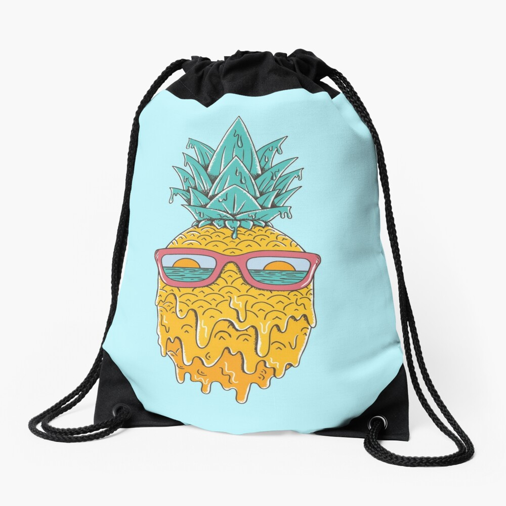 Pineapple Summer Drawstring Bag