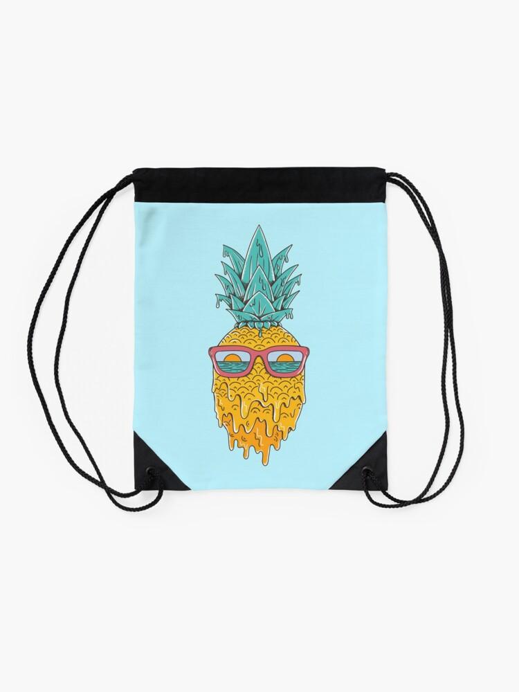 Alternate view of Pineapple Summer Drawstring Bag