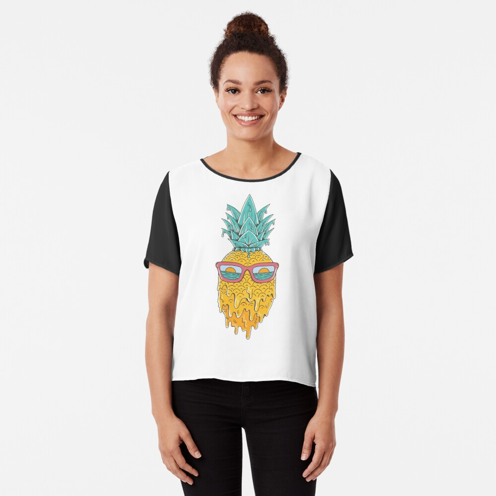 Pineapple Summer Chiffon Top