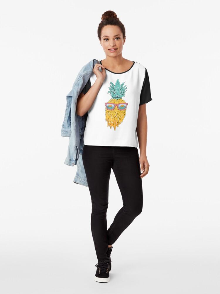 Alternate view of Pineapple Summer Chiffon Top