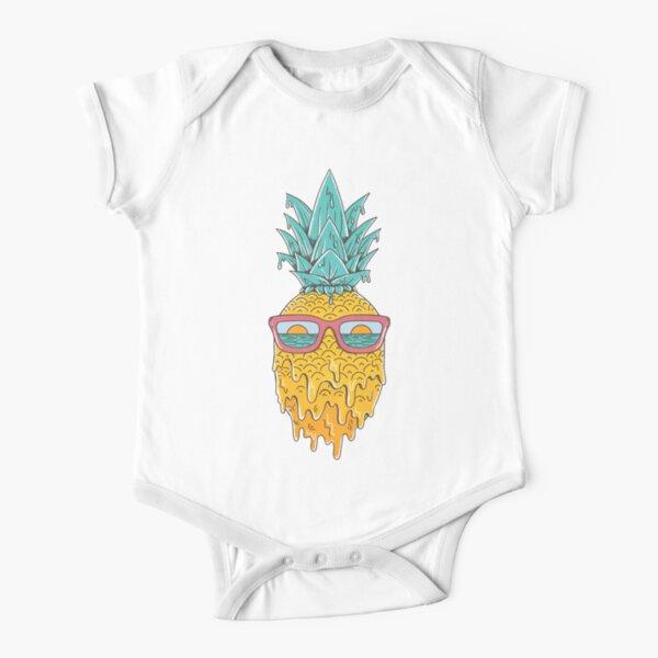 Pineapple Summer Short Sleeve Baby One-Piece