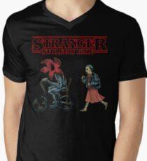 Horror Stranger Stole My Bike Men's V-Neck T-Shirt