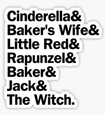 Into the Woods Characters | Black Sticker