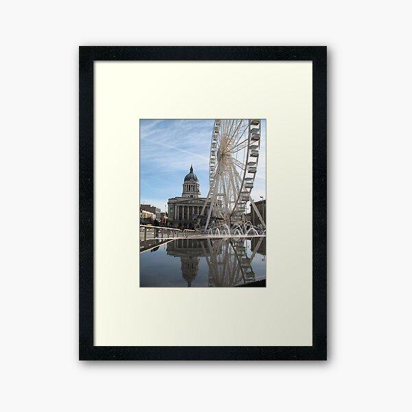 Nottingham Slab Square Framed Art Print