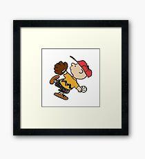 Charlie Brown Baseball Framed Print