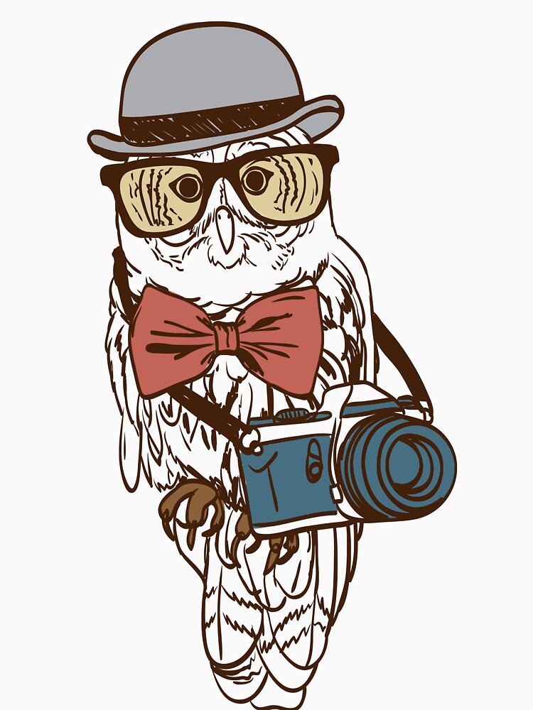Hipster Photographer Owl by digsterdesigns