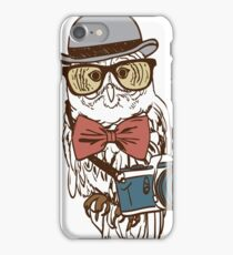 Hipster Photographer Owl iPhone Case/Skin