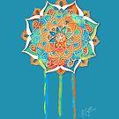 Celestial Blue Mandala by © Karin Taylor