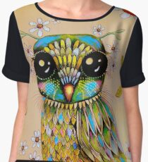 the peridot owl Women's Chiffon Top