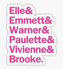 Legally Blonde Characters | Pink Sticker